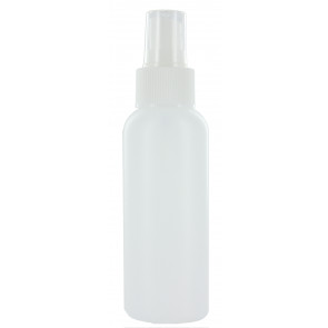 100 ml spray flesje semi transparant met vinger verstuiver / spraykop (Boston model)