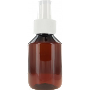 100 ml bruine spray fles met vinger verstuiver / spraydop (28mm Veral model)