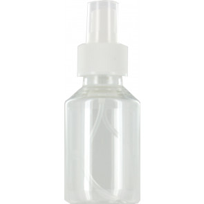 100 ml spray flesje transparant met vinger verstuiver / spraydop (28mm Veral model)