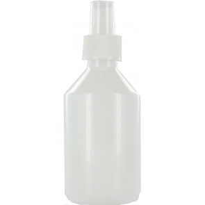 250 ml spray fles wit leeg met verstuiver / spraykop (28mm) (verstuiven van o.a. alcohol)