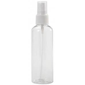 100 ml spray flesje transparant met vinger verstuiver / spraykop (Boston model)