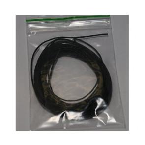 Waxkoord zwart Ø 1mm-4 meter